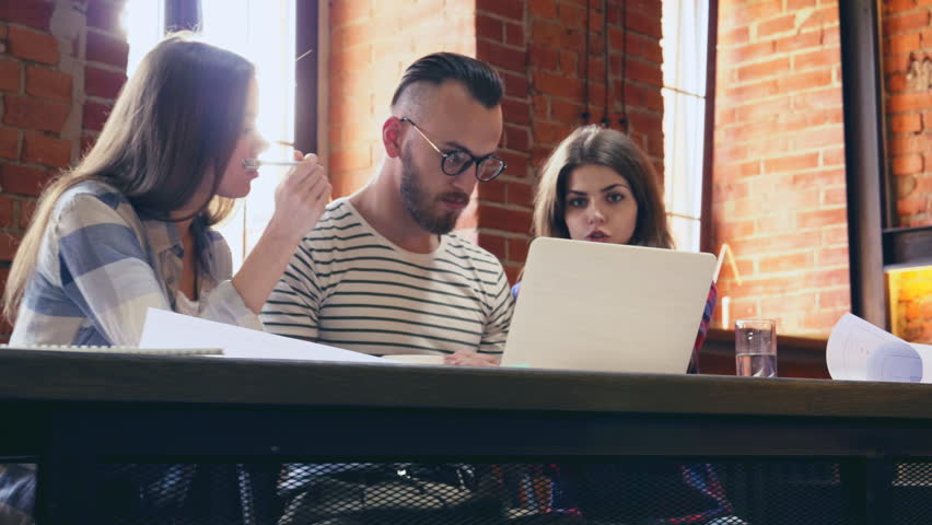 Working people with laptop indoors   Shutterstock HD Video #30018166