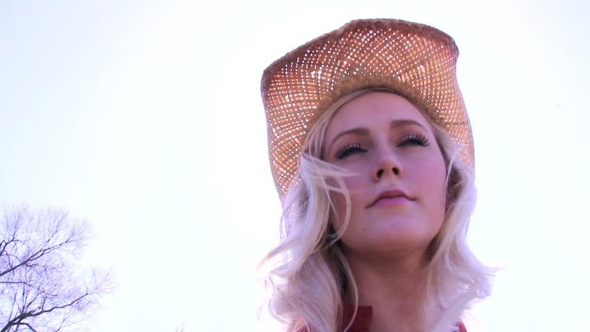Sun shines through a cowboy hat