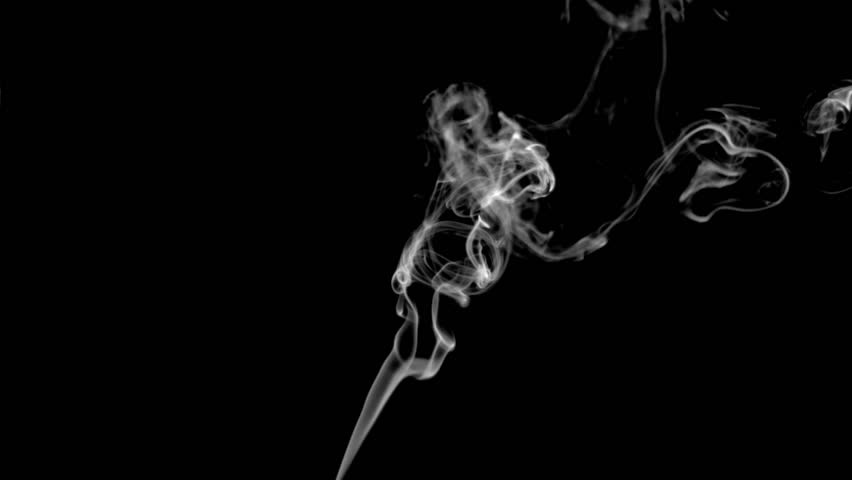 Stock Video Clip Of Cigarette Fume In Super Slow Motion Against