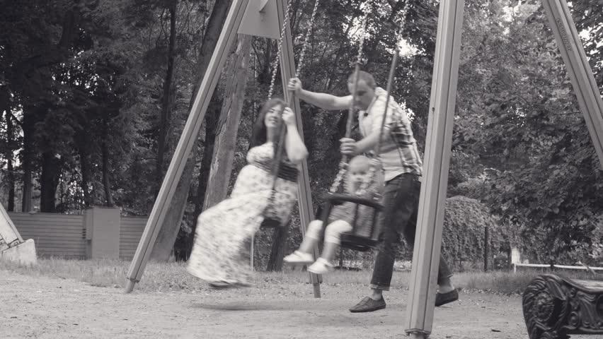 Swinging white wife