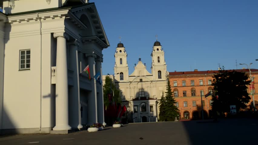 Minsk City Hall - an administrative building in central part of Minsk, Belarus, in High Market, was built in 1600. At clock tower there were hours, which for that time was of great value.