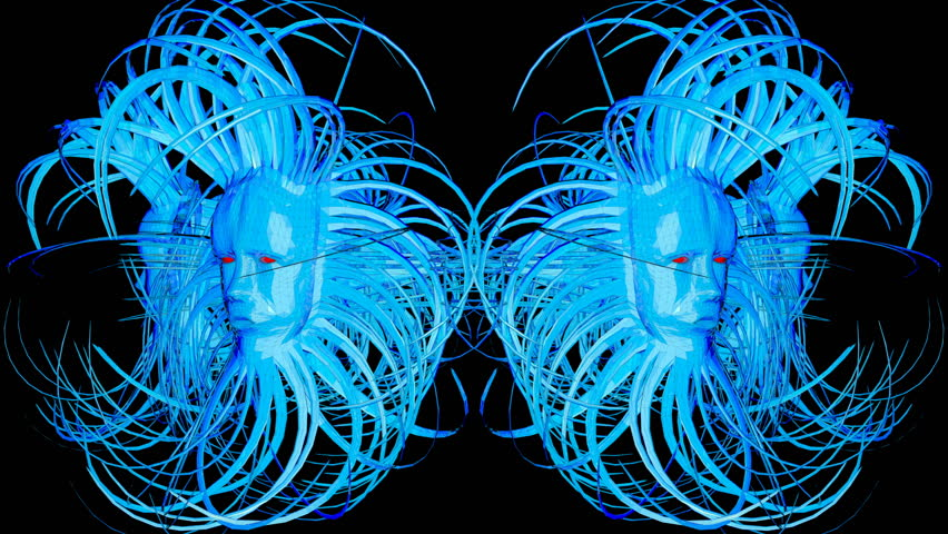 Gorgon's Head Vj Loop - cool abstract motion graphics which represent a head with twirly horns. it will be perfect to use with your next vj sets, parties and performances or thematic events.
