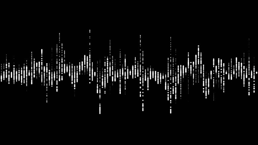 Digital waveform equalizer HUD in black background. Technological abstract element of a futuristic interface