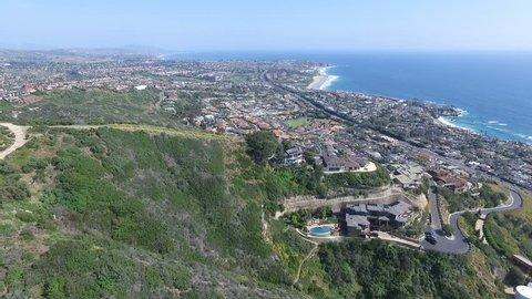 Aerial of Laguna Beach, Dana Point, Orange County, California, Real Estate.mov