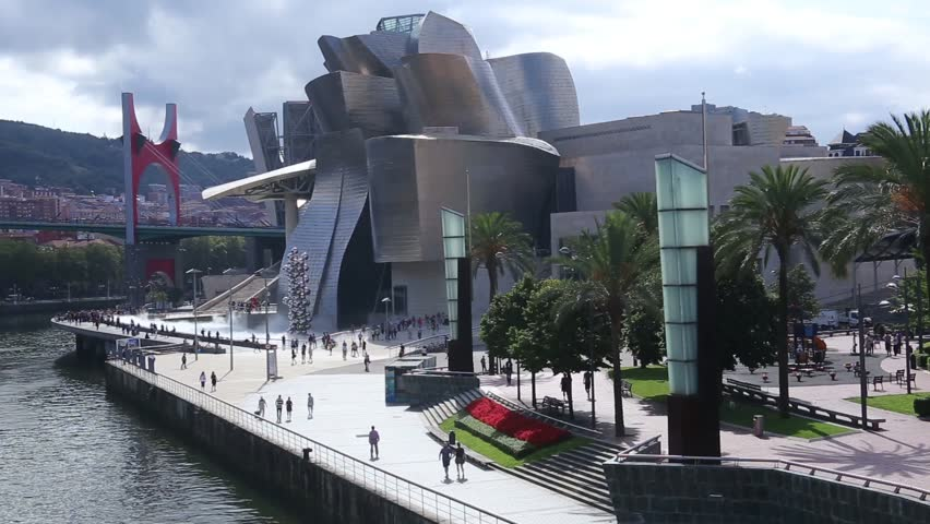 The Guggenheim Museum Bilbao is a contemporary art museum located in a building designed by Canadian architect Frank O. Gehry. It is located in Bilbao, Basque Country, northern Spain. #30145561