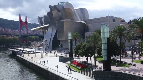 The Guggenheim Museum Bilbao is a contemporary art museum located in a building designed by Canadian architect Frank O. Gehry. It is located in Bilbao, Basque Country, northern Spain.