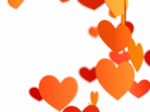 Flying heart  - Valentine's day loop-able background NTSC