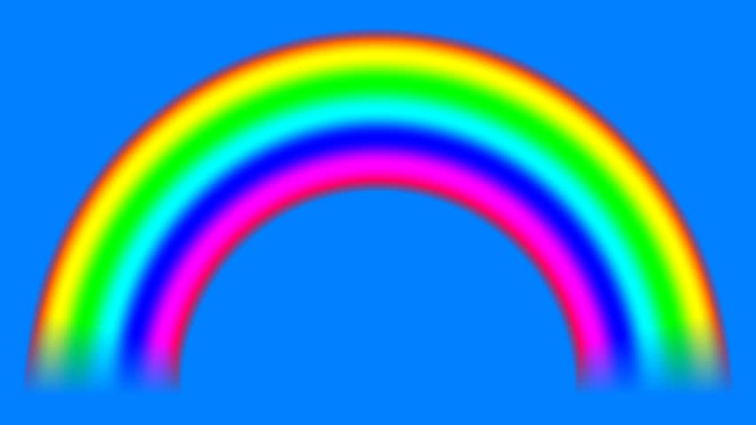 Rainbow on sky with alpha matte shifting down, seamless loop | Shutterstock HD Video #30186031