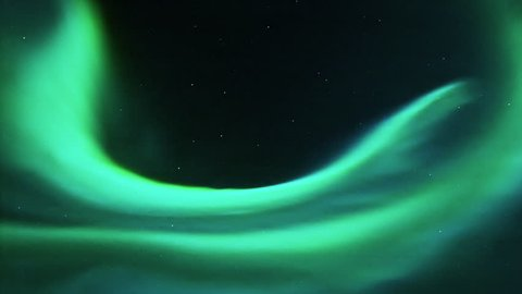 northern lights high in the sky, aurora