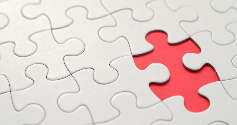 Completing Jigsaw puzzle with one pieces