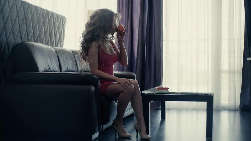 4K A Young Woman Drink Coffee | Shutterstock HD Video #30242941