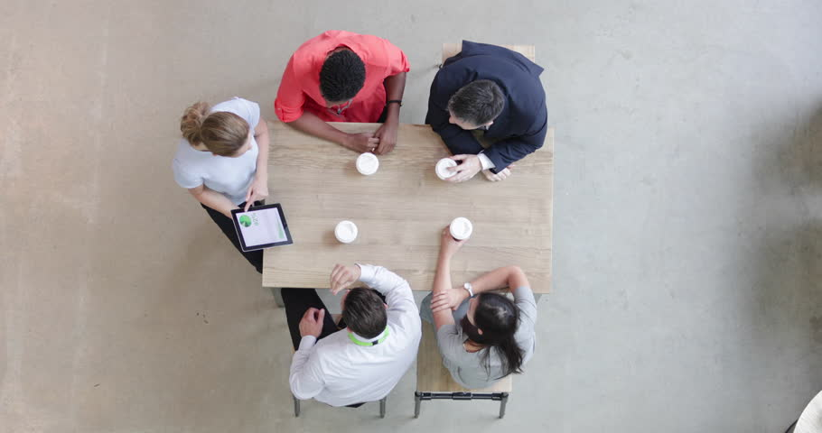 Overhead shot of a presentation in business meeting | Shutterstock HD Video #30243688