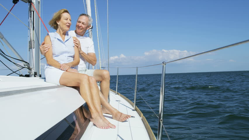 Mature American Husband And Wife Outdoors On Their Sailing -2796