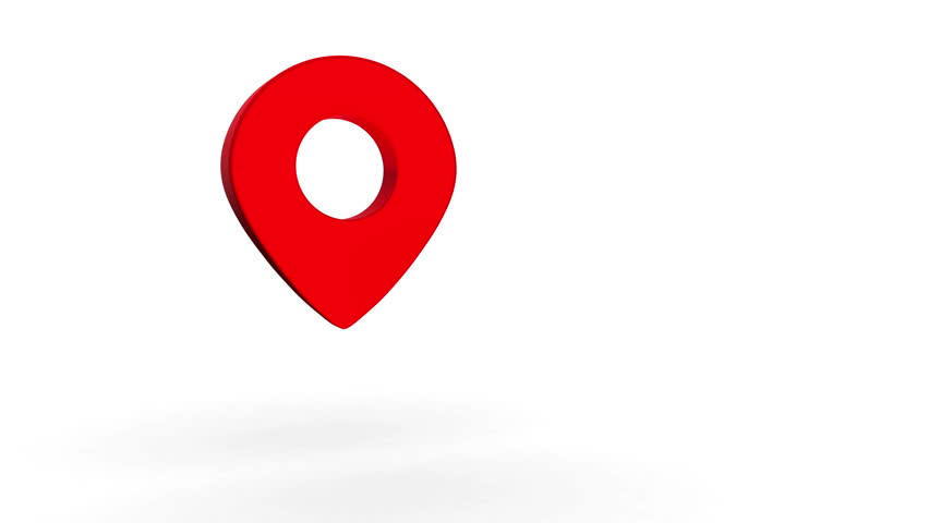 Map Pointer Icon Pin Icon Location Sign Mark Icon: Red Marker Icon With Alpha Channel Stock Footage Video