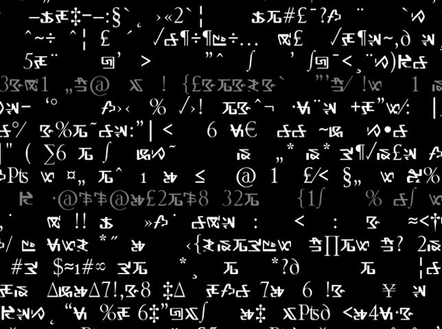 NTSC - Motion 492: A screen of scrolling formula, algebra and code. | Shutterstock HD Video #3034621