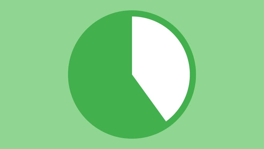 Modern ten second accurate timer countdown animation green