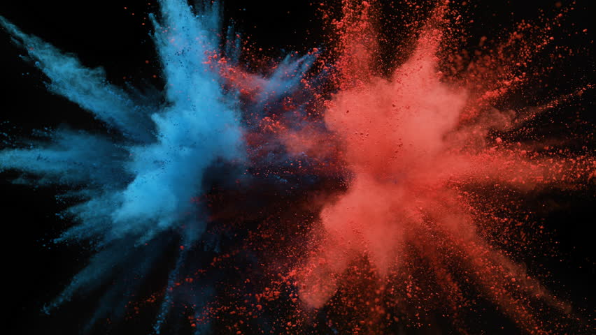 Colorful Powderparticles Fly After Being Stock Footage Video (100%  Royalty-free) 30381091 | Shutterstock