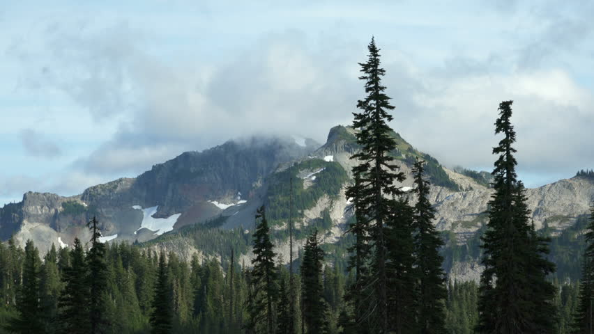 Mount Rainier National Park Clouds over peaks 01 | Shutterstock HD Video #30396001