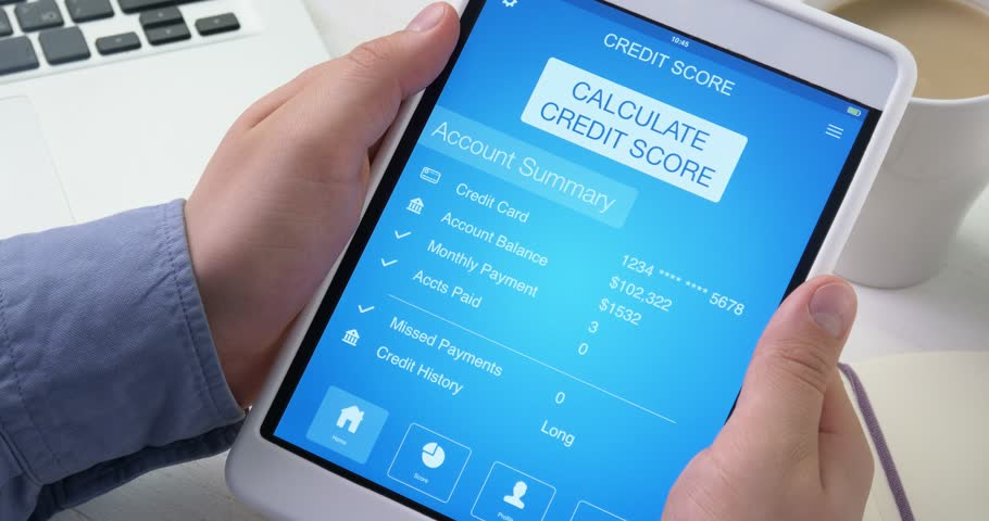 Checking good credit score on digital tablet | Shutterstock HD Video #30464260