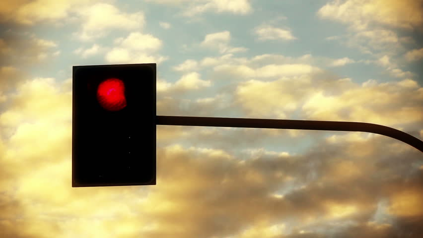 Traffic light against sky timelapse backgrounds