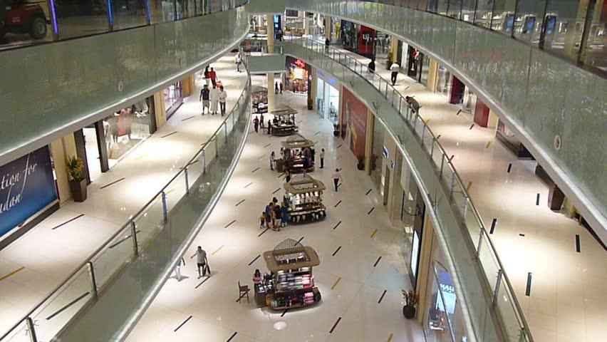 DUBAI, UAE - SEPTEMBER 06: Shoppers at Dubai Mall September 06, 2010 in Dubai, United Arab Emirates. Dubai Mall is one of the largest mall in the world.