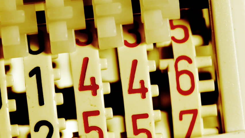 Numbers in vintage counter. | Shutterstock HD Video #3051919