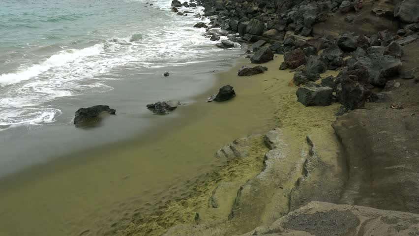 Green Sand Beach (Papakolea). Big Island, Hawaii, USA