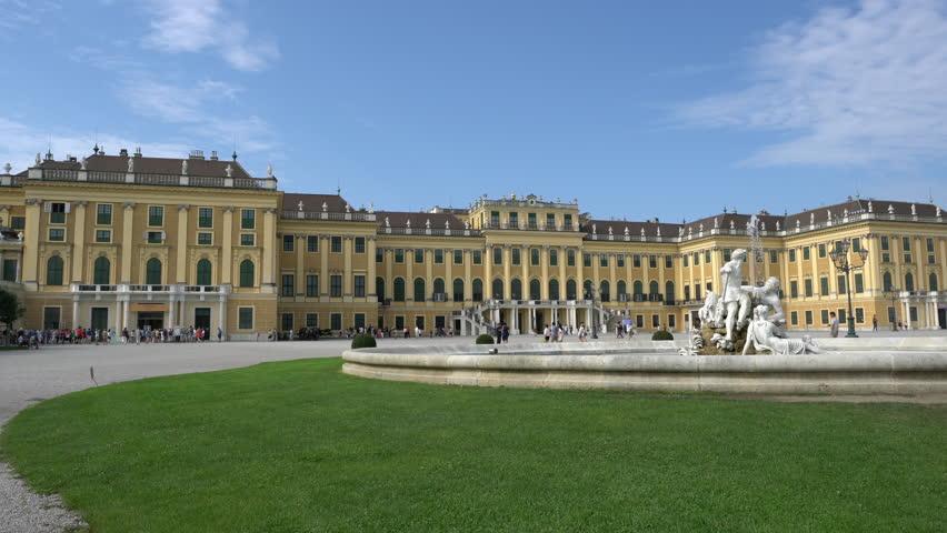Vienna, Austria. August 2017.  A external view of the Schonbrunn Palace in Vienna