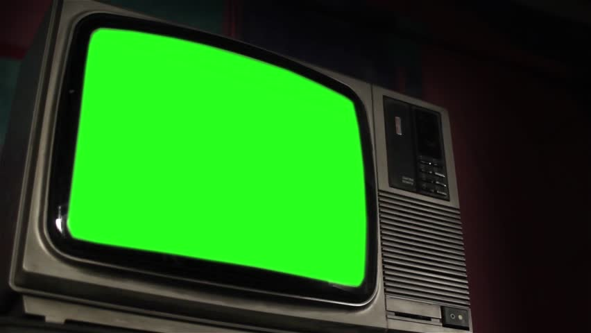 Vintage Tv Green Screen