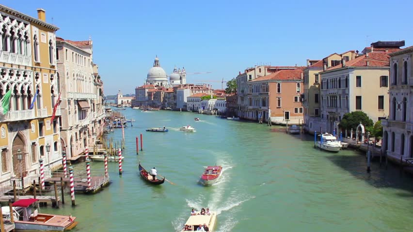 Grand Canal View from Accademia bridge in Venice, Italy. Shot on Canon 550D camera.