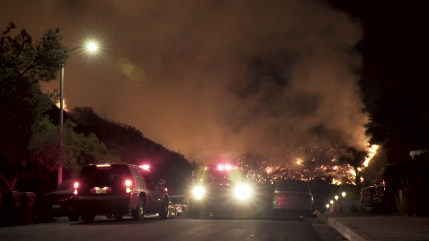 Firefighters Battling Wildfire
