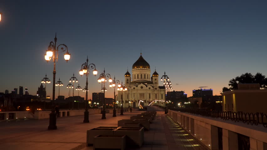 Moscow, Russia. Cathedral of Christ the Saviour . Night time   Shutterstock HD Video #30702901