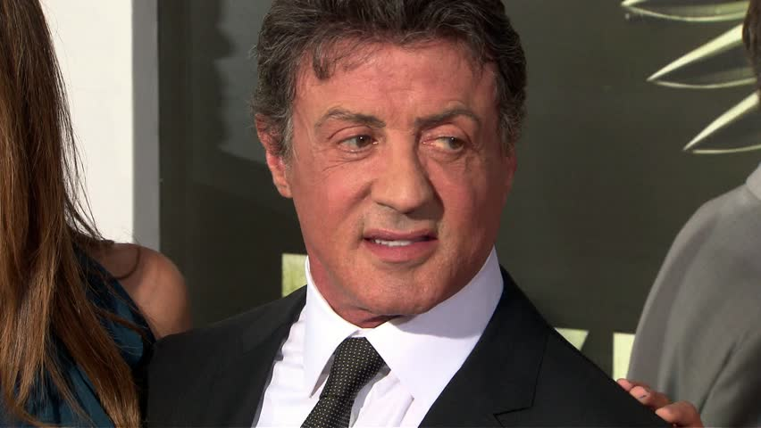 Hollywood, CA - AUGUST 15, 2012: Sylvester Stallone with family, Jennifer Flavin, walks the red carpet at the The Expendables 2 Premiere held at the Grauman's Chinese Theatre