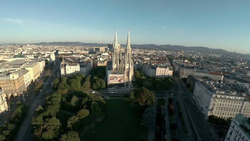 VIENNA, AUSTRIA - SUMMER 2017: Aerial view. Vein. Vienna. Wien. Maria-Theresien-Platz. Austria. Shot in 4K (ultra-high definition (UHD)). | Shutterstock HD Video #30745771