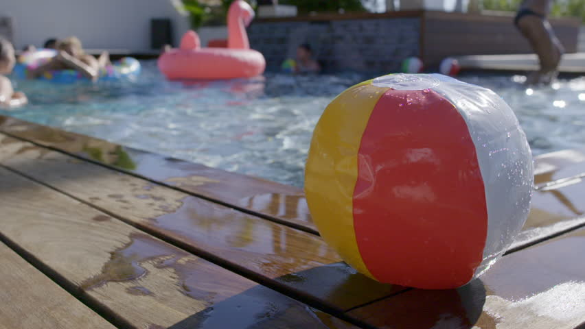 Swimming Pool Beach Ball Background colorful beach ball in pool stock footage video 7879420 | shutterstock
