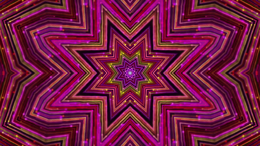 4k Disco Hypnotic Light Centerd Vj Loop Disco Effect: Psy Kaleidoscope Stage Visual Loop For Concert, Night Club