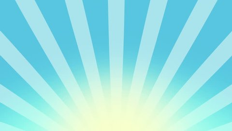 Cartoon and comic background. Blue Burst vector background. Cartoon sun light over Blue sky Background, Nice sunburst vintage style Retro Pattern. seamless loop. motion background, Stripes rotating.