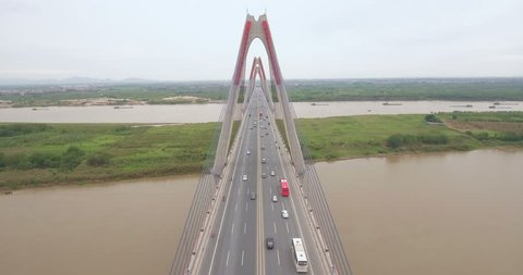 The Nhat Tan Bridge (or Vietnam - Japan Friendship Bridge) is a cable-stayed bridge crossing the Red River in Hanoi, inaugurated on 4 January 2015. It links Hanoi and Noi Bai International Airport.