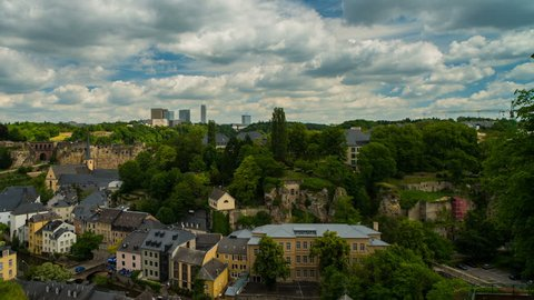 Panoramic View on Luxembourg City