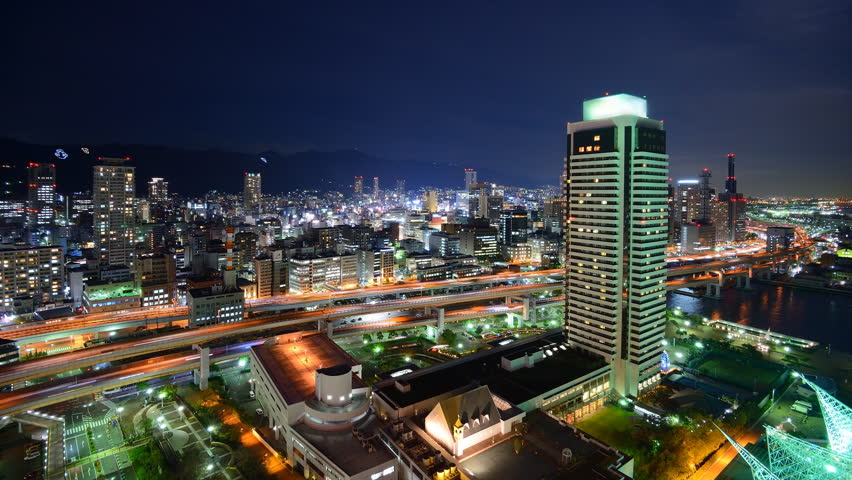 Cityscape of Kobe, Japan along the Hanshin Expressway | Shutterstock HD Video #3090211