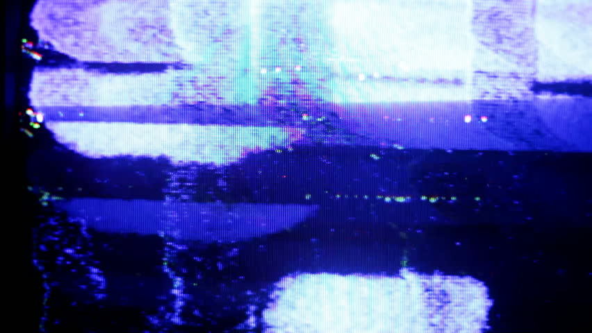 static and electronic noise captured from an old television