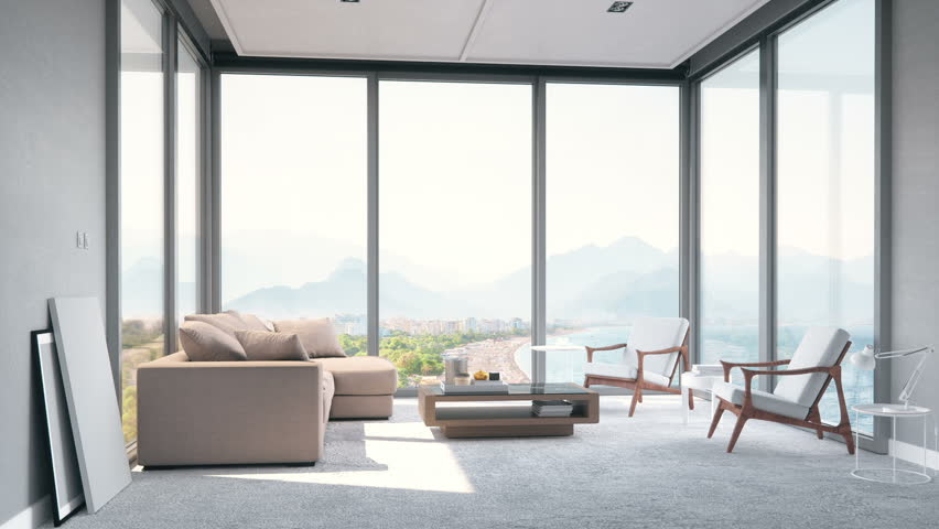 Modern Minimalist Living Room with Stock Footage Video (100% Royalty-free)  30999991 | Shutterstock
