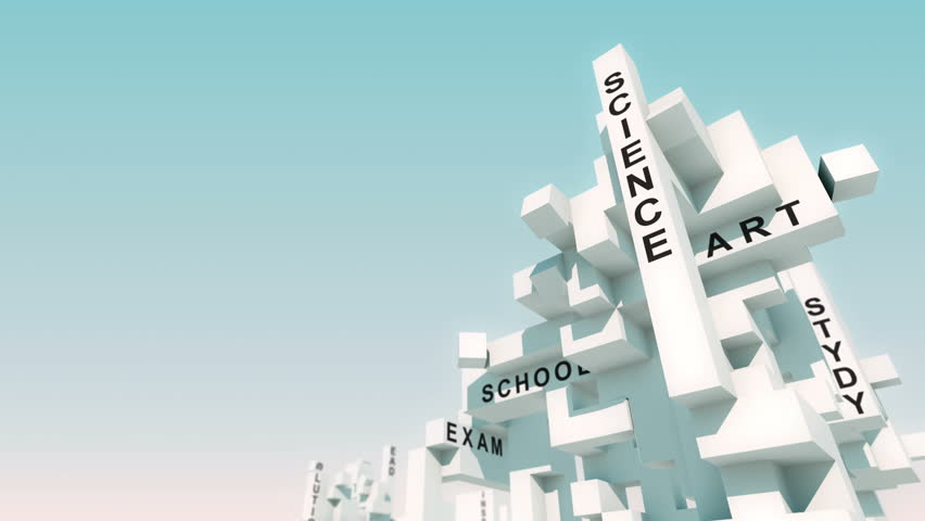 University words animated with cubes   Shutterstock HD Video #31018693