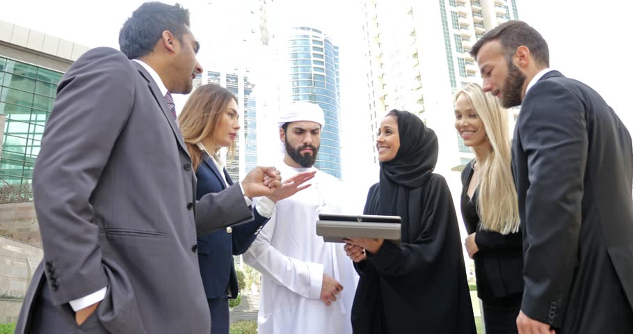 Middle eastern and western teams making business together | Shutterstock HD Video #31031011
