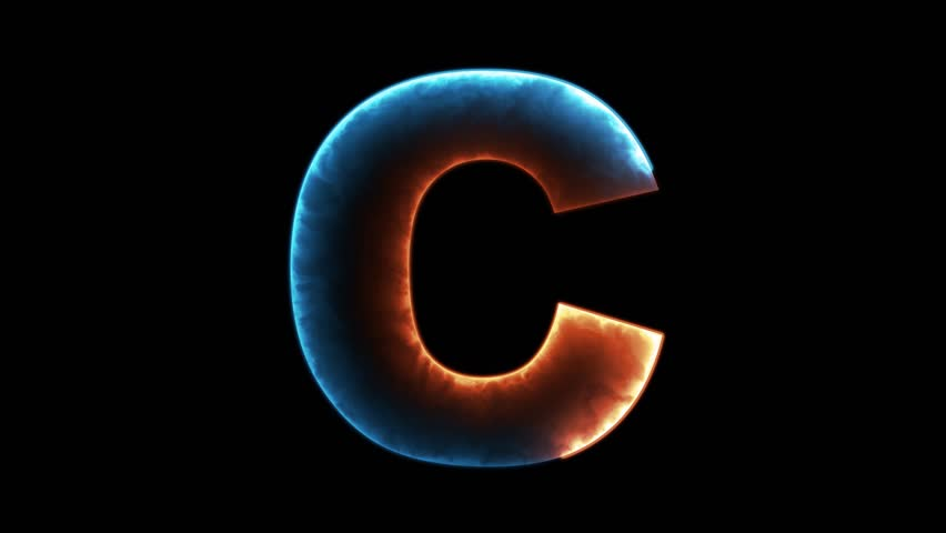 Stock Video Clip of Alphabet letters C outline looping in ...