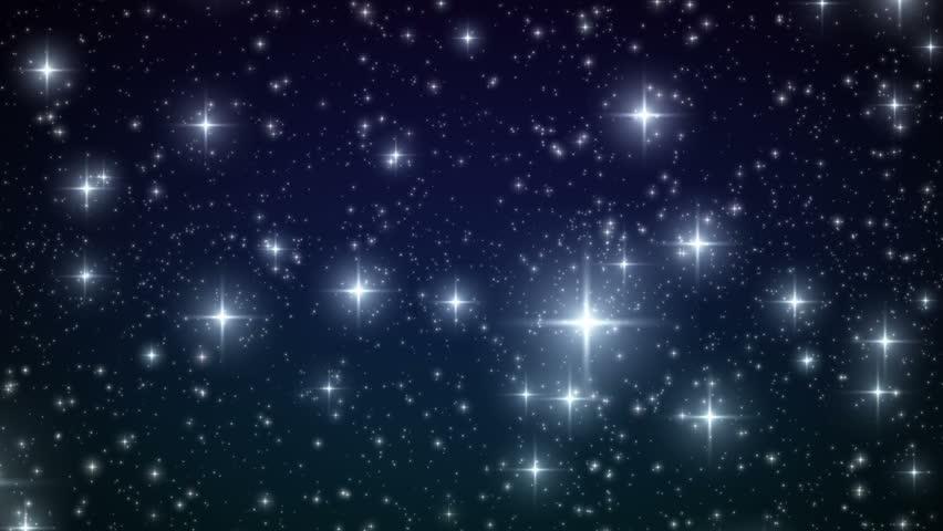 Stars falling like Snowflakes. Christmas backdrop. HD 1080. Beautiful Looped animation.