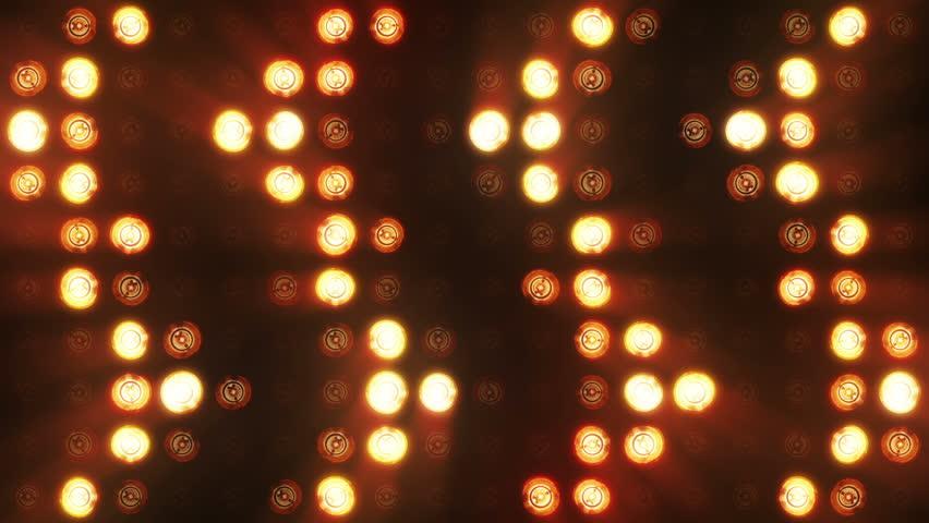 Flashing lights bulb spotlight flood lights arrow vj led wall stage led display blinking lights   Shutterstock HD Video #31142509