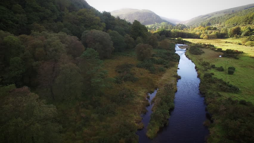 4k Aerial above River in Wicklow Mountains, Ireland   Shutterstock HD Video #31154611