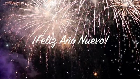 fireworks movie video 20 seconds with great color and a text banner of 8 seconds saying