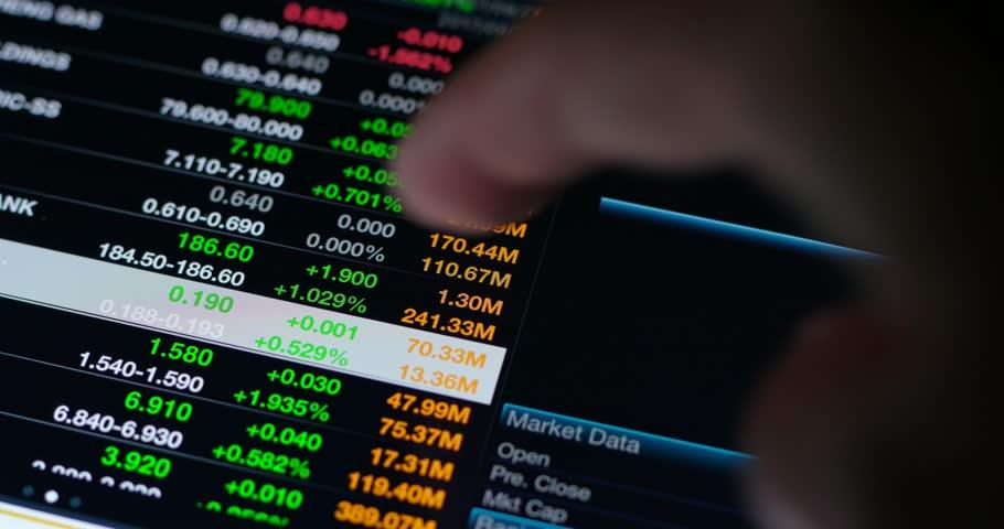 Digital tablet showing stock market data | Shutterstock HD Video #31182781